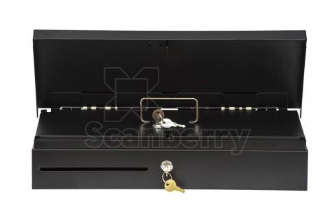 Денежный ящик АТОЛ FlipTop-B черный, 24V, крышка для инкассации, для Штрих-ФР (39761)