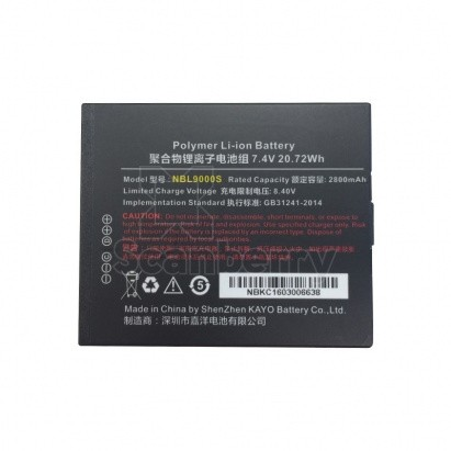 Аккумуляторная батарея NBL9000S 2800 mAh, 7.4V для Android 4.3 UROVO i9000s battery (MC9000-ACCBTRY2800)