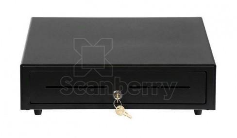 Денежный ящик АТОЛ EC-410-B черный, 410*415*100, 24V, для Штрих-ФР (39760)