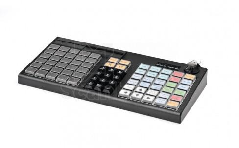 Программируемая клавиатура АТОЛ KB-76-KU (rev.2) черная c ридером магнитных карт на 1-3 дорожки (42291)