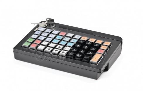 Программируемая клавиатура АТОЛ KB-50-U (rev.2) черная c ридером магнитных карт на 1-3 дорожки (42289)
