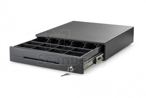 Денежный ящик АТОЛ CR-400-B черный, 425*440*100, 24V, для Штрих-ФР (45306)