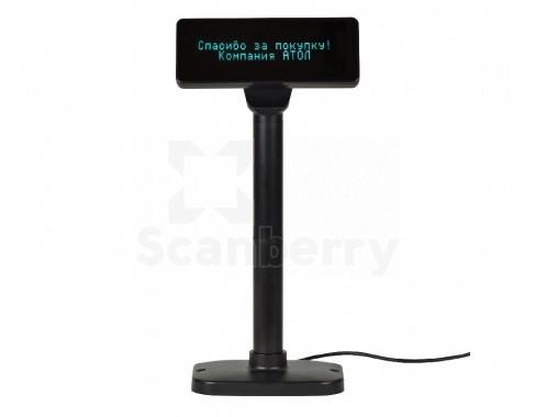 Дисплей покупателя АТОЛ PD-2800 RS232, черный, зеленый светофильтр (40925)